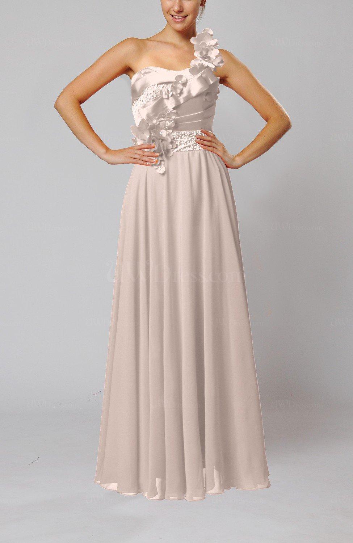 Light pink gorgeous sheath one shoulder sleeveless floor for Medium length wedding dresses