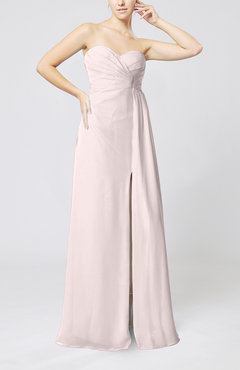 Light Pink Elegant Empire Sweetheart Sleeveless Zip up Prom Dresses