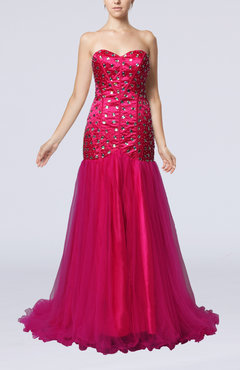 Modern Trumpet Sweetheart Sleeveless Beaded Party Dresses
