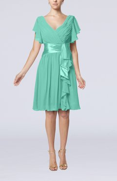 Seafpam Green Vintage Bridesmaid Dresses