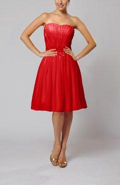 Red Taffeta Full Figure