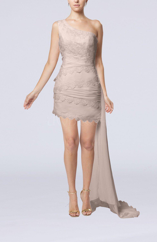 Light pink sexy garden sheath sleeveless chiffon lace for Sheath chiffon wedding dresses