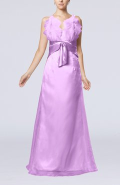 Begonia Romantic Sheath Spaghetti Zipper Organza Prom Dresses