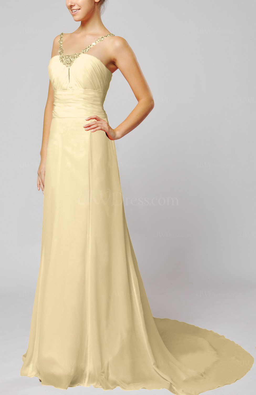 Champagne elegant outdoor sheath lace up chiffon court for Sheath chiffon wedding dresses