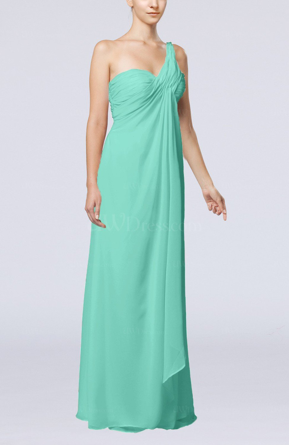 Mint green romantic beach sleeveless zip up floor length for Green beach wedding dresses