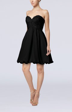 Black Cinderella A-line Sleeveless Backless Chiffon Pleated Graduation Dresses