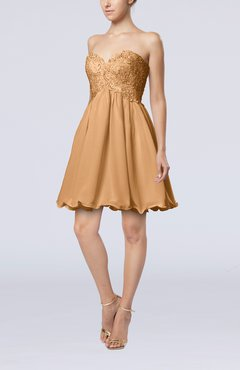 Burnt Orange Cinderella A-line Sleeveless Backless Chiffon Pleated Graduation Dresses