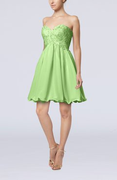 Sage Green Cinderella A-line Sleeveless Backless Chiffon Pleated Graduation Dresses
