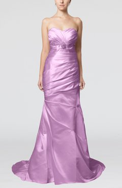 Begonia Classic Outdoor Fit-n-Flare Sleeveless Satin Court Train Beaded Bridal Gowns