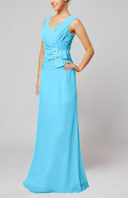 Turquoise elegant sleeveless zip up floor length ribbon for Turquoise wedding guest dress