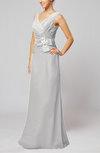 Elegant Sleeveless Zip up Floor Length Ribbon Wedding Guest Dresses