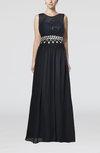 Mature Sheath Jewel Sleeveless Floor Length Wedding Guest Dresses