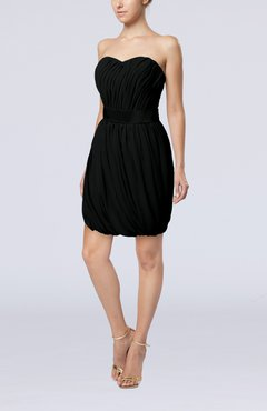 Black Modern Sheath Sweetheart Sleeveless Zipper Short Homecoming Dresses