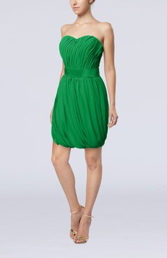 Green Modern Sheath Sweetheart Sleeveless Zipper Short Homecoming Dresses