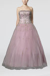 Romantic Church Strapless Backless Floor Length Paillette Bridal Gowns
