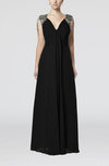 Simple Column Sleeveless Chiffon Floor Length Party Dresses