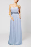 Simple Sheath Sleeveless Floor Length Sash Bridesmaid Dresses