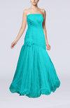 Romantic A-line Sleeveless Floor Length Ruching Evening Dresses