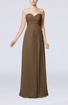 Simple Empire Sweetheart Sleeveless Floor Length Bridesmaid Dresses
