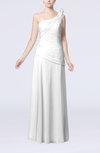 Plain Sheath One Shoulder Sleeveless Floor Length Flower Evening Dresses