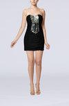 Sexy Sleeveless Backless Chiffon Short Ruching Little Black Dresses