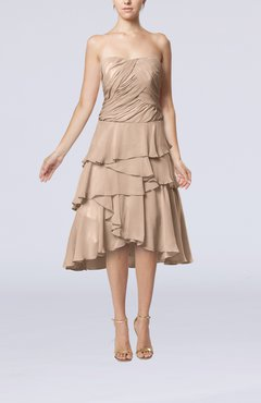 Dusty Rose Romantic A-line Sleeveless Backless Chiffon Ruching Wedding Guest Dresses