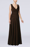 Mature Sheath V-neck Sleeveless Chiffon Floor Length Mother of the Bride Dresses