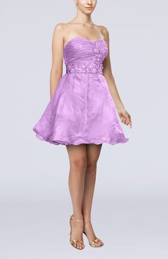 Begonia Modern Baby Doll Sweetheart Backless Short Homecoming Dresses