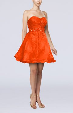 Persimmon Modern Baby Doll Sweetheart Backless Short Homecoming Dresses