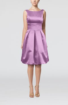 Begonia Plain A-line Sleeveless Knee Length Sash Bridesmaid Dresses