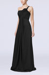 Simple One Shoulder Sleeveless Zipper Chiffon Pleated Mother of the Bride Dresses