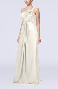 Ivory Simple One Shoulder Sleeveless Zipper Chiffon Pleated Mother of the Bride Dresses