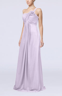 Light Purple Simple One Shoulder Sleeveless Zipper Chiffon Pleated Mother of the Bride Dresses