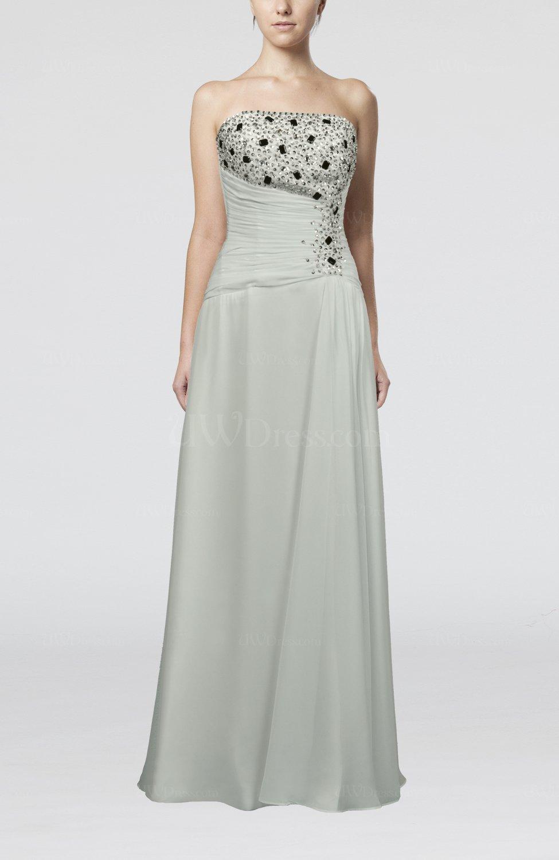 White elegant destination sheath chiffon floor length for Sheath chiffon wedding dresses