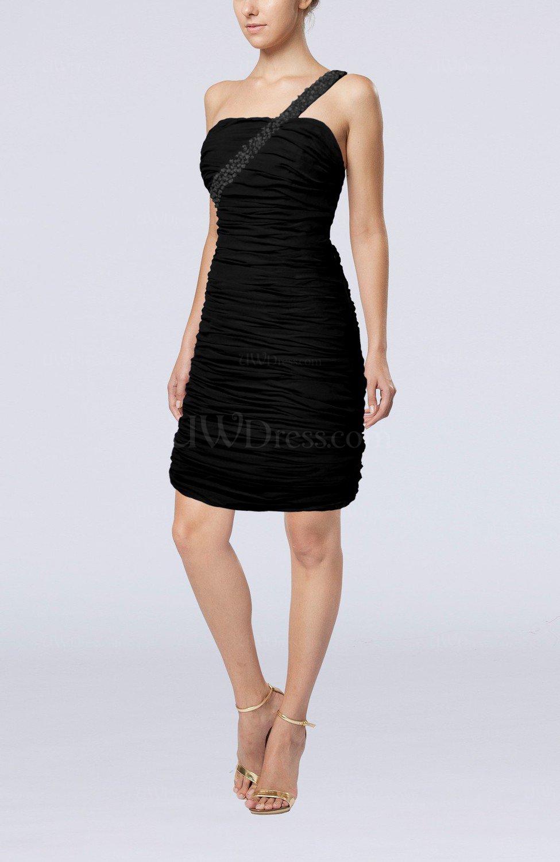 Black sexy strapless chiffon short ruching wedding guest for Strapless dresses for wedding guests