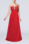 Elegant Empire Sweetheart Zip up Chiffon Beaded Evening Dresses