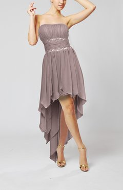 Cameo Cute Strapless Sleeveless Zip up Chiffon Paillette Party Dresses