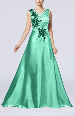 Mint Green Clic Church Sleeveless Zip Up Court Train Ruching Bridal Gowns
