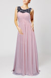 Modest Column Scoop Sleeveless Chiffon Pleated Evening Dresses