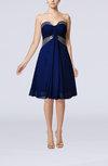 Elegant Sweetheart Sleeveless Chiffon Knee Length Paillette Bridesmaid Dresses