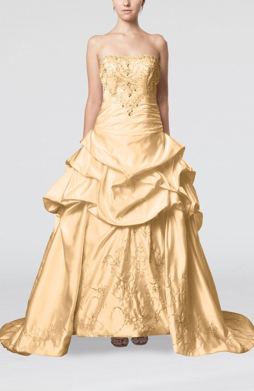 Fresh salmon gorgeous church strapless backless satin for Strapless backless wedding dress