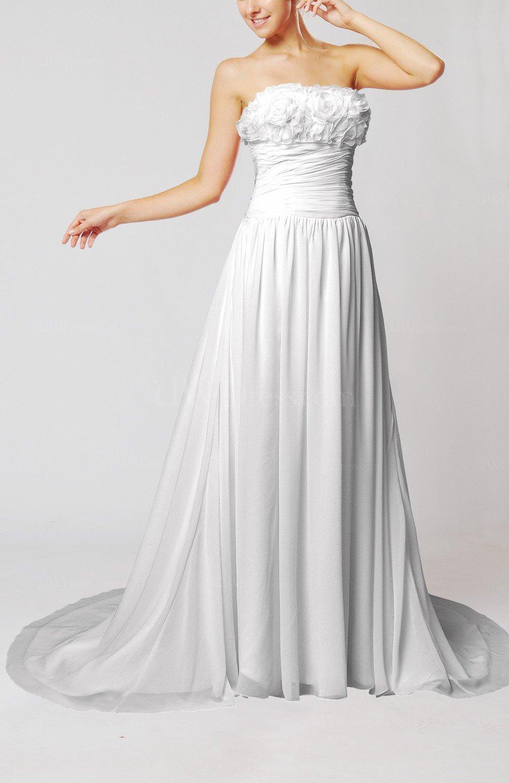 White romantic hall sheath sleeveless backless flower for Backless sheath wedding dresses