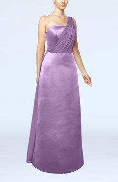 Begonia Simple Sheath Sleeveless Satin Floor Length Wedding Guest Dresses