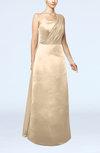 Simple Sheath Sleeveless Satin Floor Length Wedding Guest Dresses