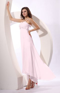 Blush Sexy Spaghetti Sleeveless Zip up Ruching Evening Dresses