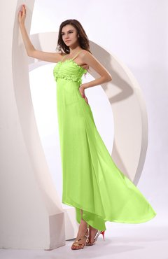 Bright Green Sexy Spaghetti Sleeveless Zip up Ruching Evening Dresses