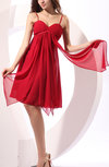 Cute A-line Zipper Chiffon Knee Length Pleated Prom Dresses