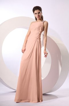 Burnt Orange Fairytale Sheath Zipper Floor Length Rhinestone Bridesmaid Dresses