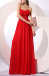 Elegant Sweetheart Backless Chiffon Floor Length Bridesmaid Dresses