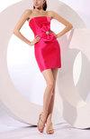 Casual Strapless Zipper Mini Bow Club Dresses